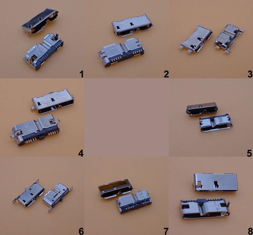 24 Uds 8 modelos de alta velocidad Micro USB 3,0 hembra 10Pin Tipo SMD B SMT Socket PCB conectores de soldadura para discos duros móviles