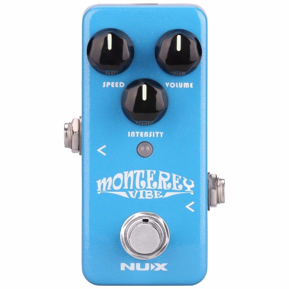 Nouveau Nux Monterey Vibe pédale deffets de guitare Vibrato Guitarra Vibe pédale son analogique avec matériel amélioré