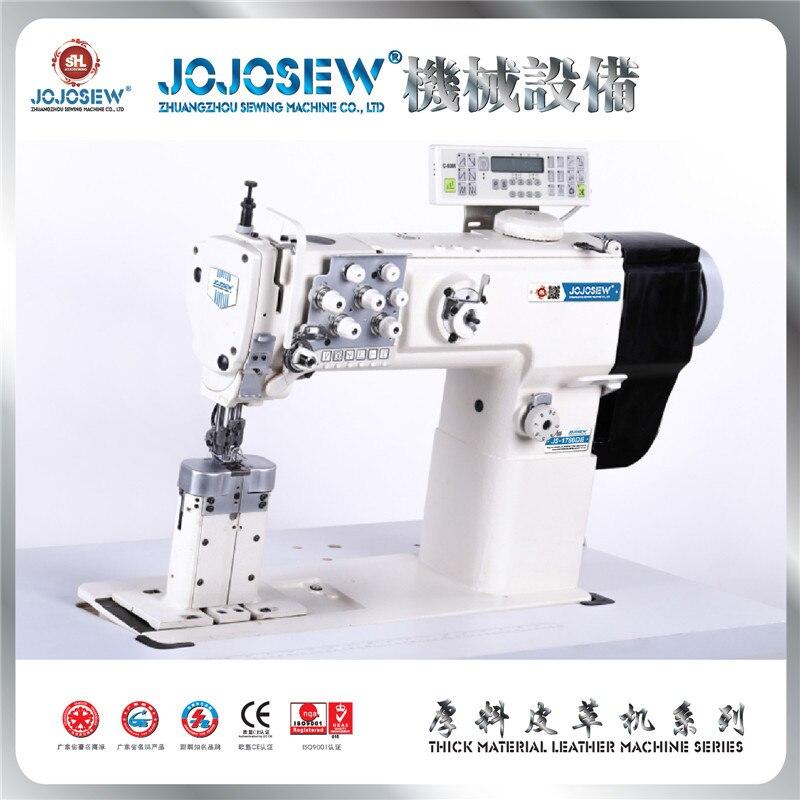 Equipo de JS-1780DE, unidad directa, amplio con espacio entre las agujas de sofá, productos de cuero, doble aguja, máquina de coser especial de alimentación integrada