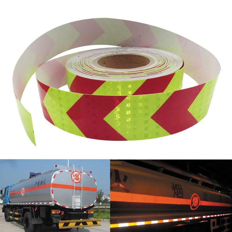 5cm X 10m Shining Reflective Warning Tape with Printing for fairways truck motorcycle bicycles