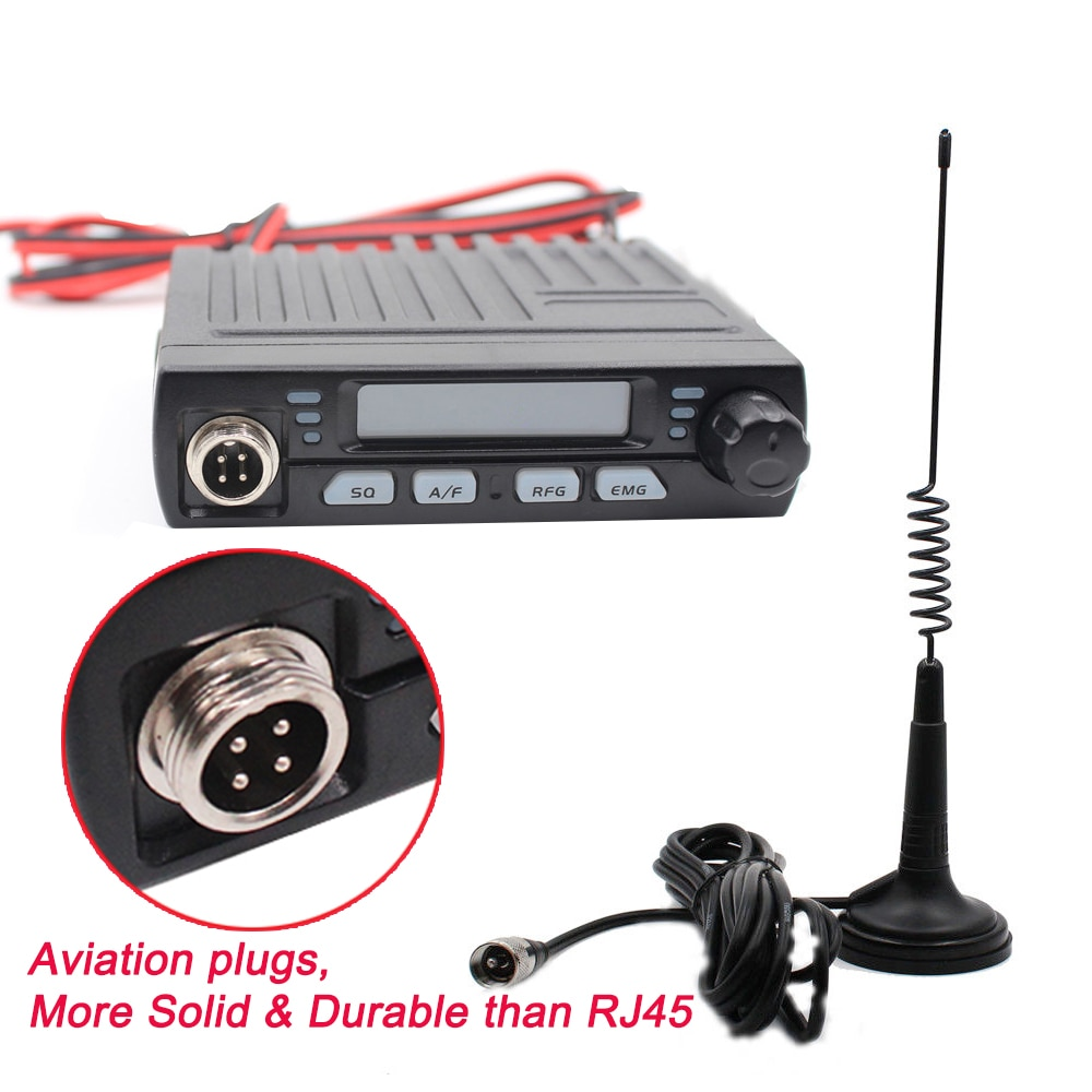 AC-001 Ultra compacto AM/FM Mini móvil 8W Radio CB 26MHz 27MHz 10 metros Amateur Radio Móvil Albrecht AE-6110 ciudadano Radio de banda