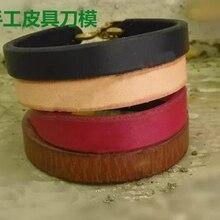 Ensemble doutils de découpe cuir   Modèle dartisanat du cuir de styliste, bracelet à main, couteau de découpe, moule de trous de cuir, poinçons