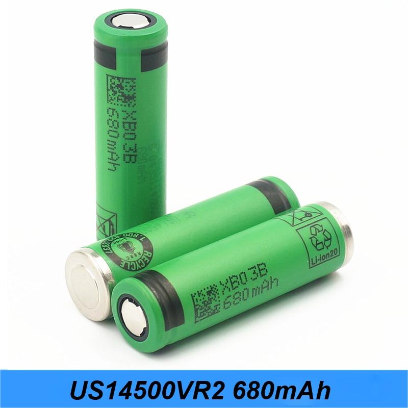 Bateria 14500 lanterna 680 mah US14500VR2 para Sony 14500 bateria para 14500 carregador flishlight para J5 Turmera 14500 bateria