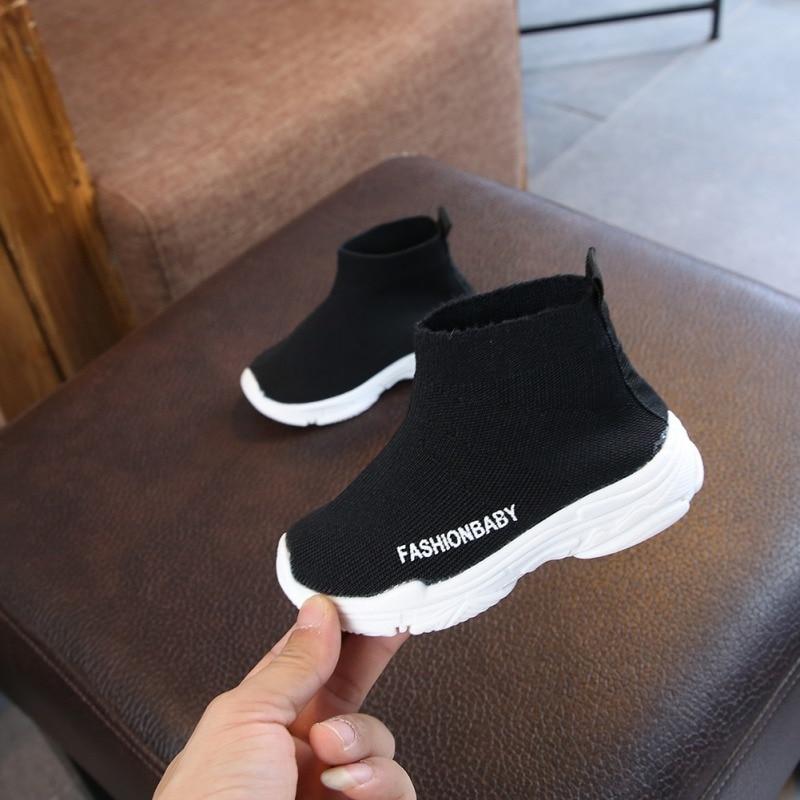 Осенняя Новая модная сетчатая дышащая Спортивная обувь для бега для девочек; Обувь для мальчиков; Брендовая детская обувь