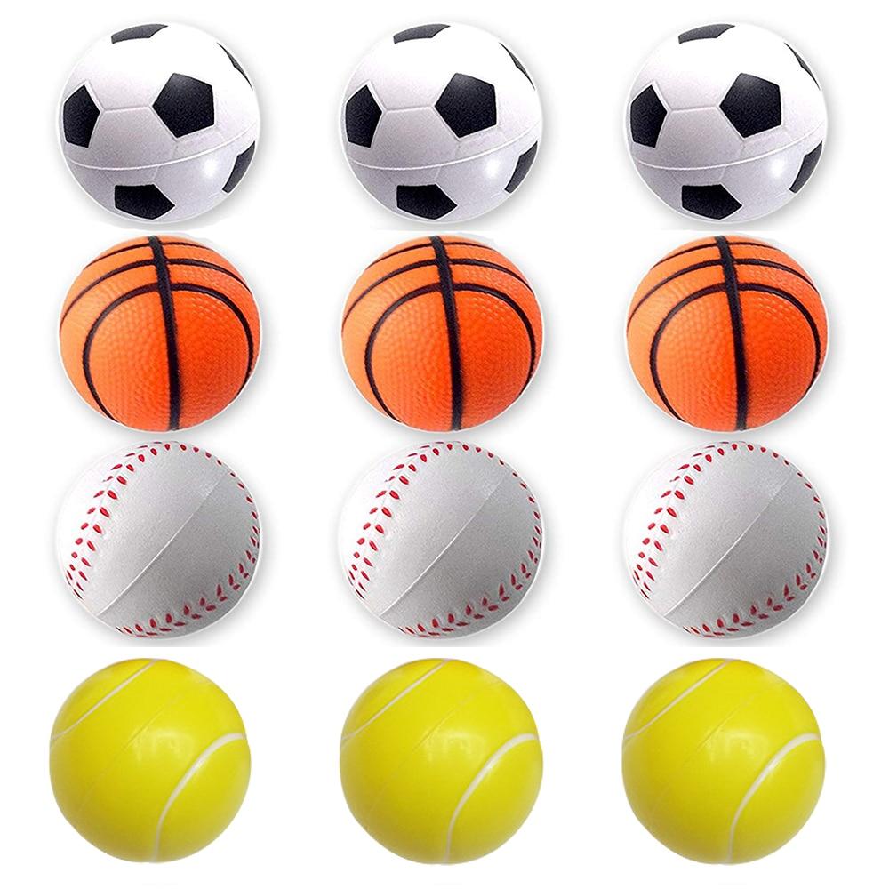 1 PCS Mini Bolas Esportivas para Crianças Brinquedo Bola De Futebol Basquete Beisebol Futebol Favor Estresse Relaxamento Alívio Da Ansiedade Novo