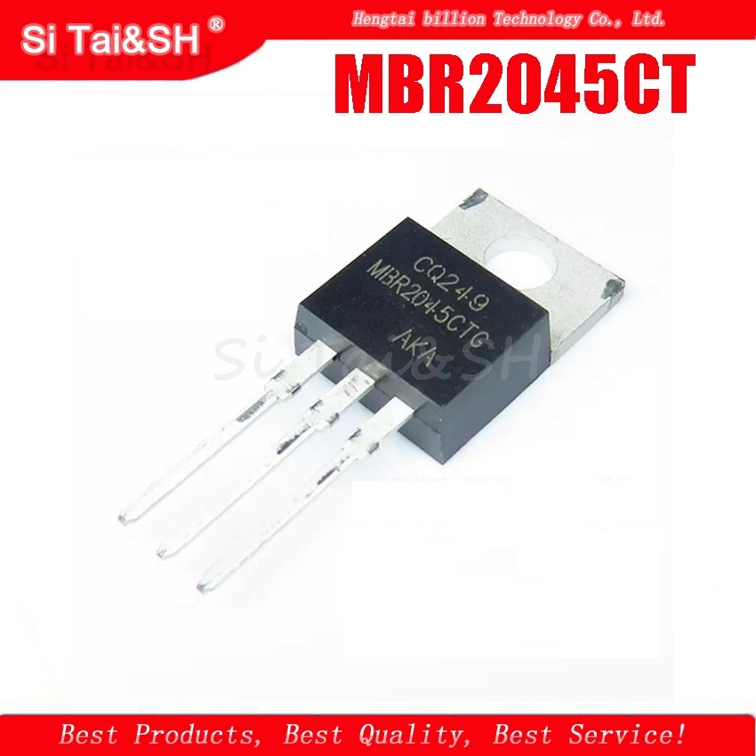 5pcs/lot MBR2045CT MBR2045 20A 45V Schottky diode T0-220 original authentic TO-220