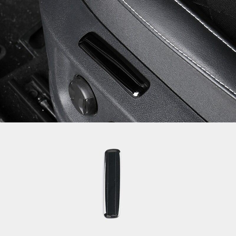 1 pc/set adesivo de aço estilo do carro interior assento posição memória capa guarnição para skoda karoq 2017 2018