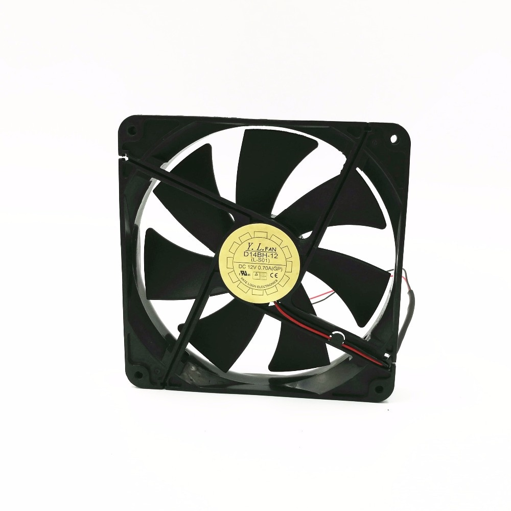 12 V 0.7A eksenel soğutma fanı 14 cm 14025 elektrikli fan D14BH-12 Sessiz Soğutma Fanı