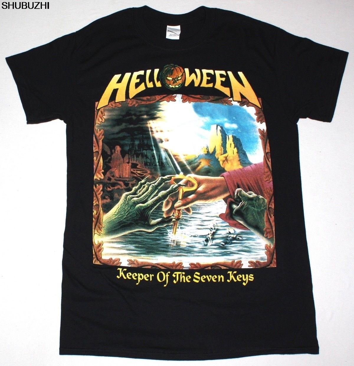HELLOWEEN KEEPER OF THE SEVEN KEYS, parte II, HEAVY METAL KISKE, nueva camiseta negra sbz4253