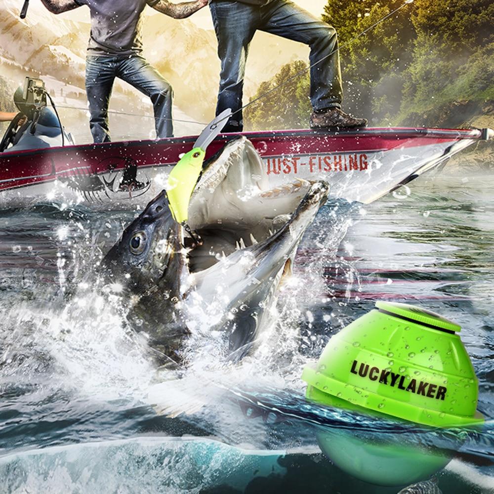 Lucky FF916 WiFi buscador de peces inalámbrico Laker Sonar ruso buscador de peces APP mejor profunda eco Sounder Bite alarma para la pesca profunda