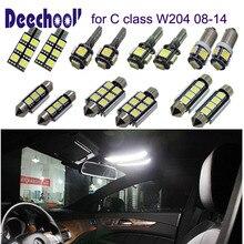 21pcs LED Licht Auto Interieur verlichting Lamp voor Mercedes Benz C klasse W204 Sedan C180 C200 C220 C250 C300 c350 (08-14)