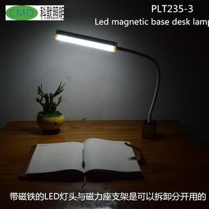 Removable CMO  magnetic base led machine lamp Multi-functional USB Recharging lamp LED Reading Adjustable Dimmer Desk Lamp