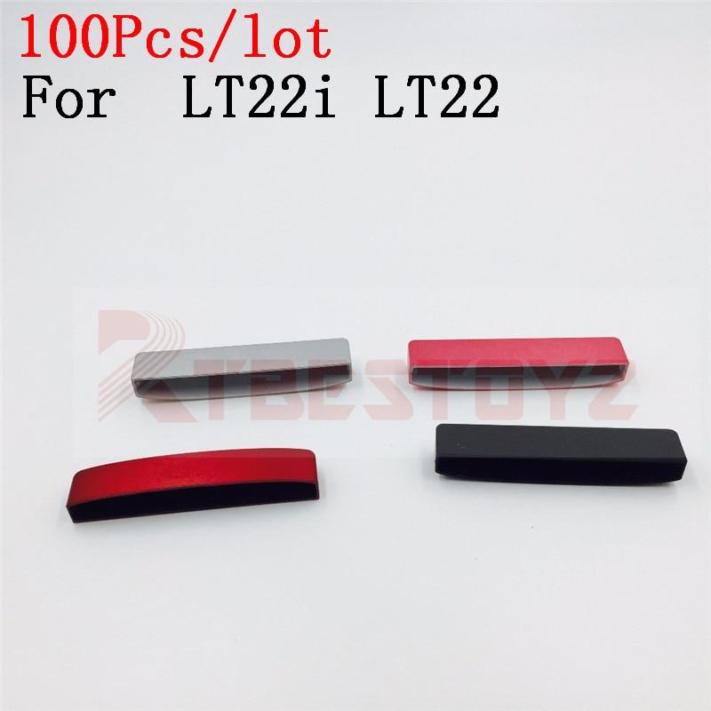 100 unids/lote piezas de reparación para Sony Xperia P LT22i LT22 carcasa tapa inferior funda reemplazar debajo/bajo cubierta inferior
