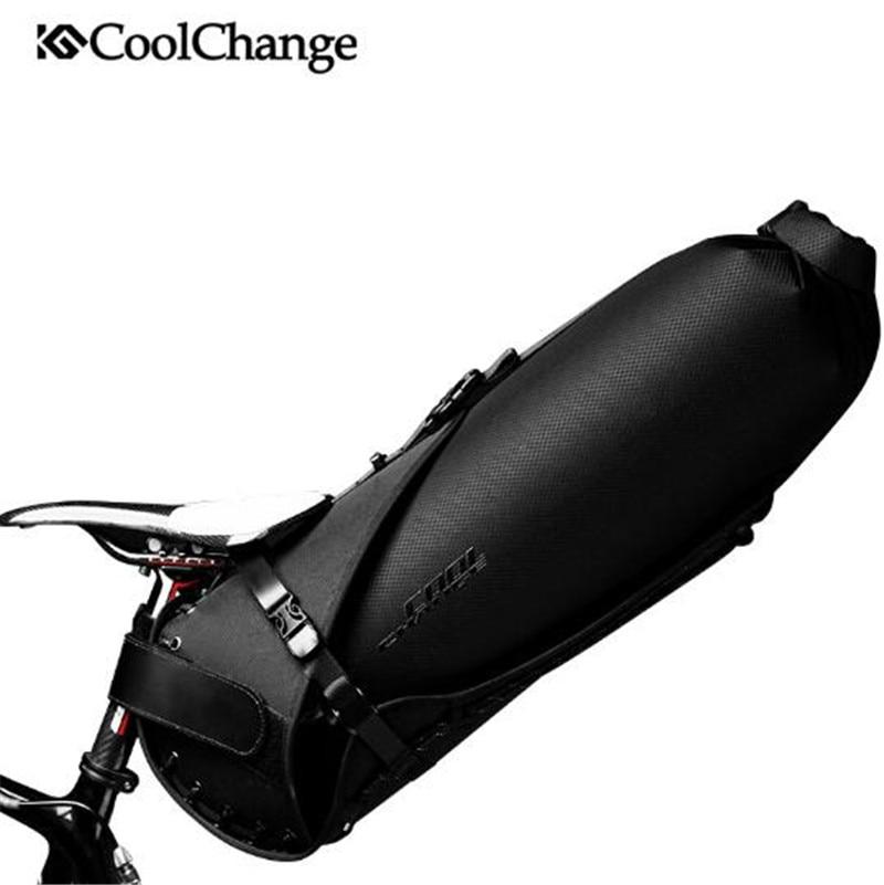 CoolChange 20L bolsa de bicicleta trasera plegable de gran capacidad bolsa de bicicleta de Ciclismo MTB maletero mochila impermeable bolsa de sillín de bicicleta