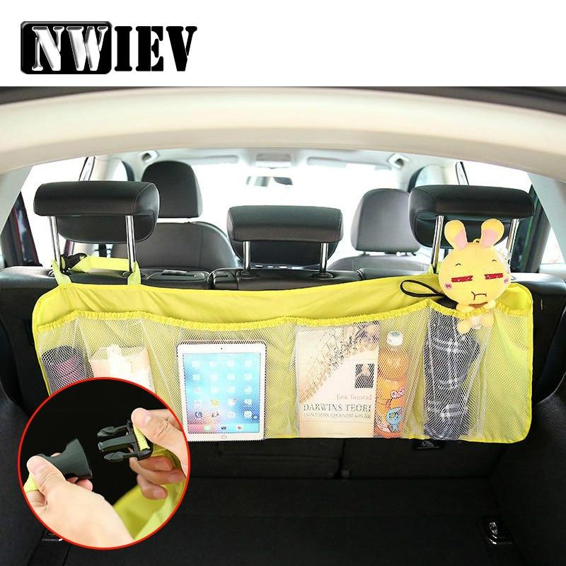 NWIEV, asiento para maletero trasero de coche, bolsa de red de cuerda elástica para BMW E36 F30 F10 E30 Honda Fit CRV Jeep Wrangler Cherokee Alfa Romeo 159 156