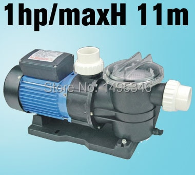 Stp100 0.75KW/1HP Bomba de piscina de natación con filtro, bomba de filtro para piscina velocidad máxima de flujo 275 L/min (16500 L/H) cabezal máximo 11M