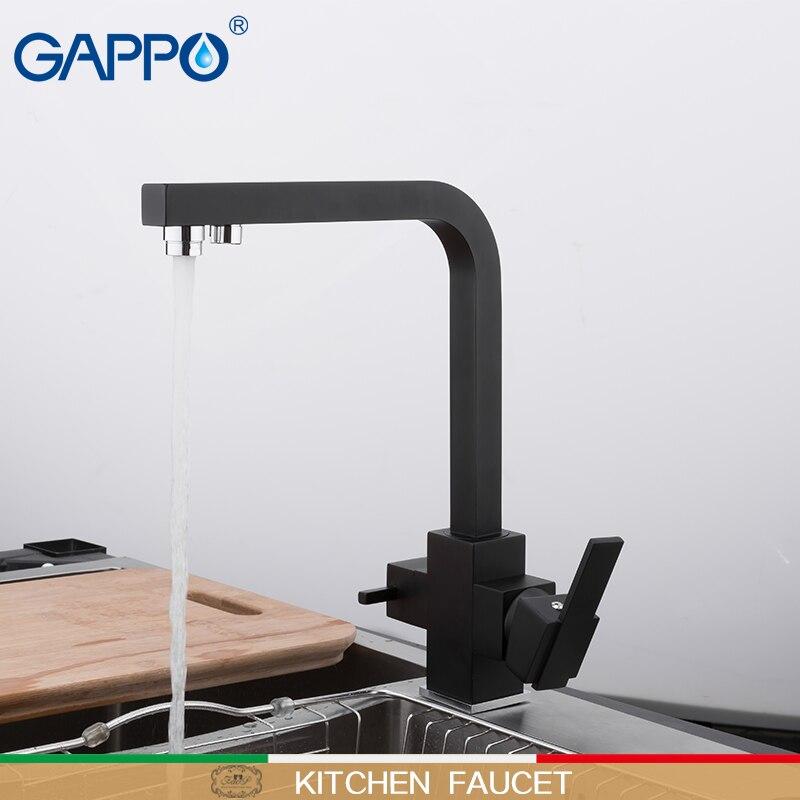 GAPPO Kitchen faucet black kitchen mixers sink faucet gappo taps faucet mixer water faucets for kitchen basin tap set