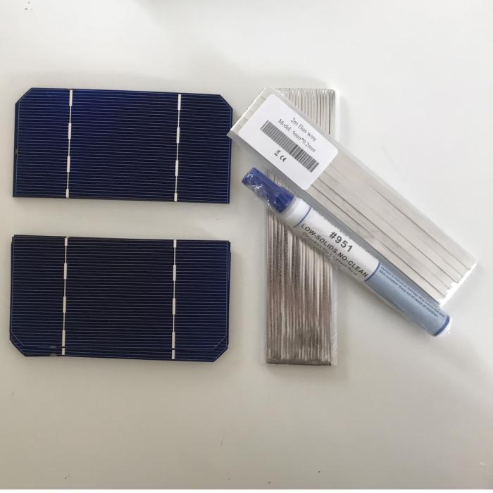 ALLMEJORES-خلية soalr أحادية البلورية ، 100 مللي متر × 125 مللي متر ، 62.5 واط ، 1.4 فولت ، للوحة الشمسية DIY ، 12 فولت/24 فولت ، إعطاء سلك علامة تبويب وقلم تدفق ، ...