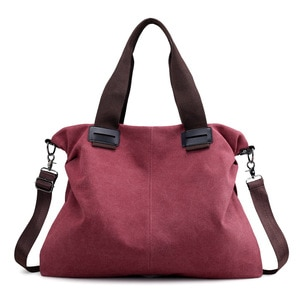 2019 Casual Totes For Women Padded Canvas Bag Large Capacity Ladies Handbag Wild Shoulder Simple Light Shopping