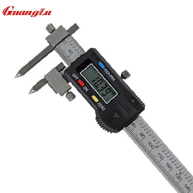 Ferramentas de medição de aço inoxidável do micrômetro do calibre de guanglu com pontas cônicas 5-150mm/0.01mm
