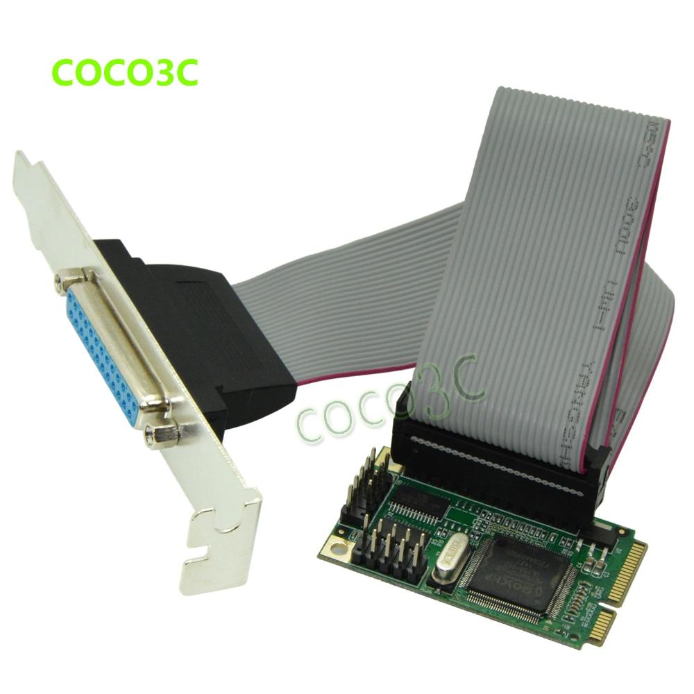 Микросхема MCS9901 mini PCI-e 1 Parallel IEEE 1284, Карта контроллера mini PCI express к DB25 принтеру LPT, адаптер порта для mini ITX