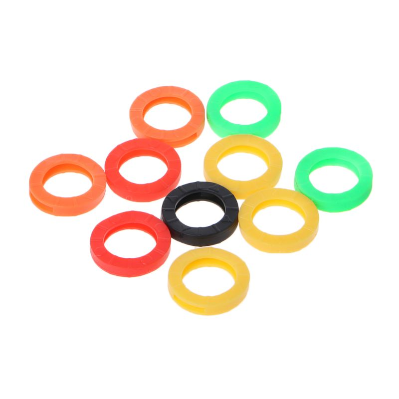 10 шт. силиконовые чехлы для ключей ярких цветов Кольца ключей   
