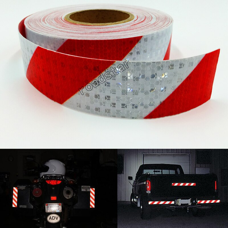 5cmX 10m Reflective Safety Stickers Night Driving Waterproof Wide Reflective Stickers Warning Tape Bicycle Accessories