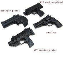 1:6 10cm Mini metalowy plastikowy pistolet miękki pocisk strzał Airsoft wiatrówka z etui akcesoria desert eagle Toy A040