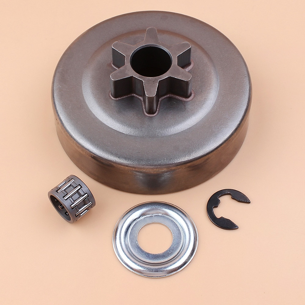 3/8 6T сцепление барабан Звездочка шайба E-Clip комплект для STIHL бензопила 017 018 021 023 025 MS170 MS180 MS210 MS230 MS250 1123 640 2003