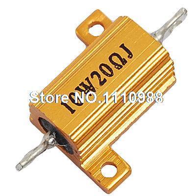 Chassis Montada Aluminum Alojado Resistor 5% 10 W 20 Ohm