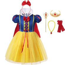 Children Girl Snow White Dress Princess Costume Kids Baby Birthday Halloween Party Fancy Dresses for