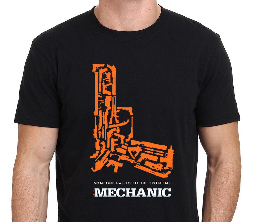 2019 hombres tendencias de ocio camiseta mecánica Statham película póster de pistola camiseta tamaño sudadera ofensiva