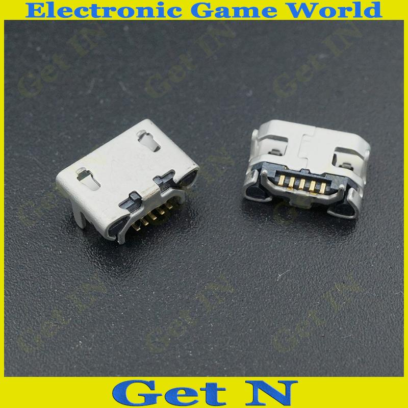 100 pçs/lote micro 5pin conector usb conector de carregamento tipo b conector dip quatro pés para o reparo do telefone móvel