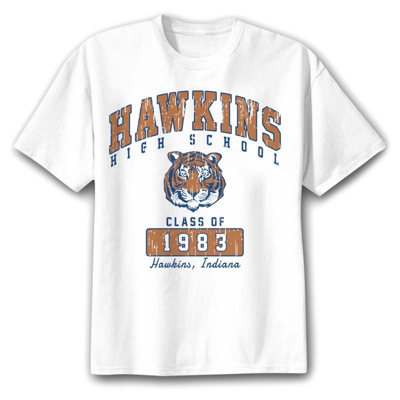 STRANGER THINGS Hawkins, camisetas de manga corta con Tigre, divertidas camisetas, jersey, joggers, envío gratis