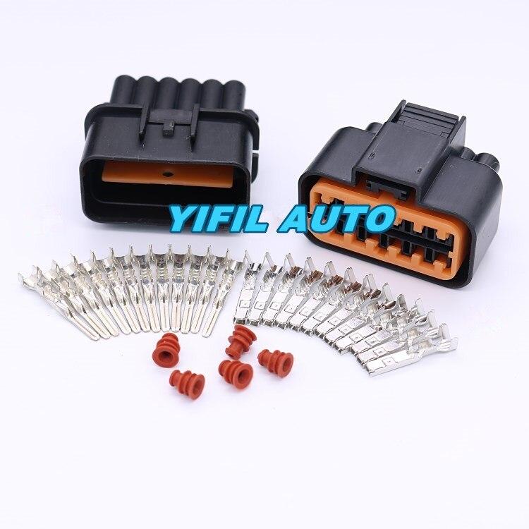 10 комплектов 12 Pin/Way педаль газа акселератора разъем автомобильной вилки для 99-05 VW Jetta Golf GTI MK4 Audi PB625-12027 PB621-12020