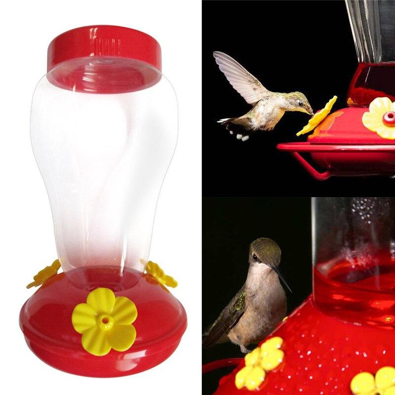 Plástico pássaro alimentador de água garrafa pendurado hummingbird alimentador de água jardim ao ar livre livre néctar pátio quintal janela pássaro #30