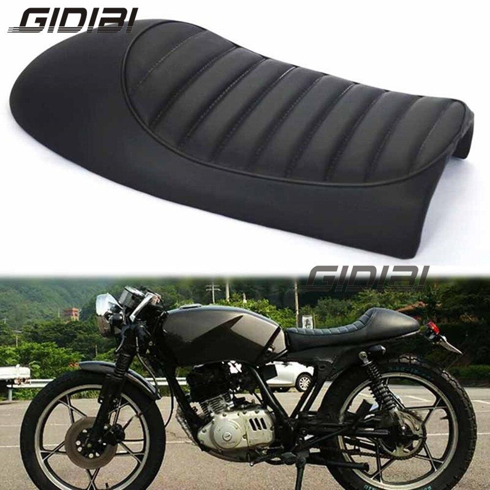 Asiento de asiento negro Vintage para cafe racer CG GN CB200 CB350 CB400SS CB500 CB750 SR400 SR500 XJ XS, asiento Retro para motocicleta