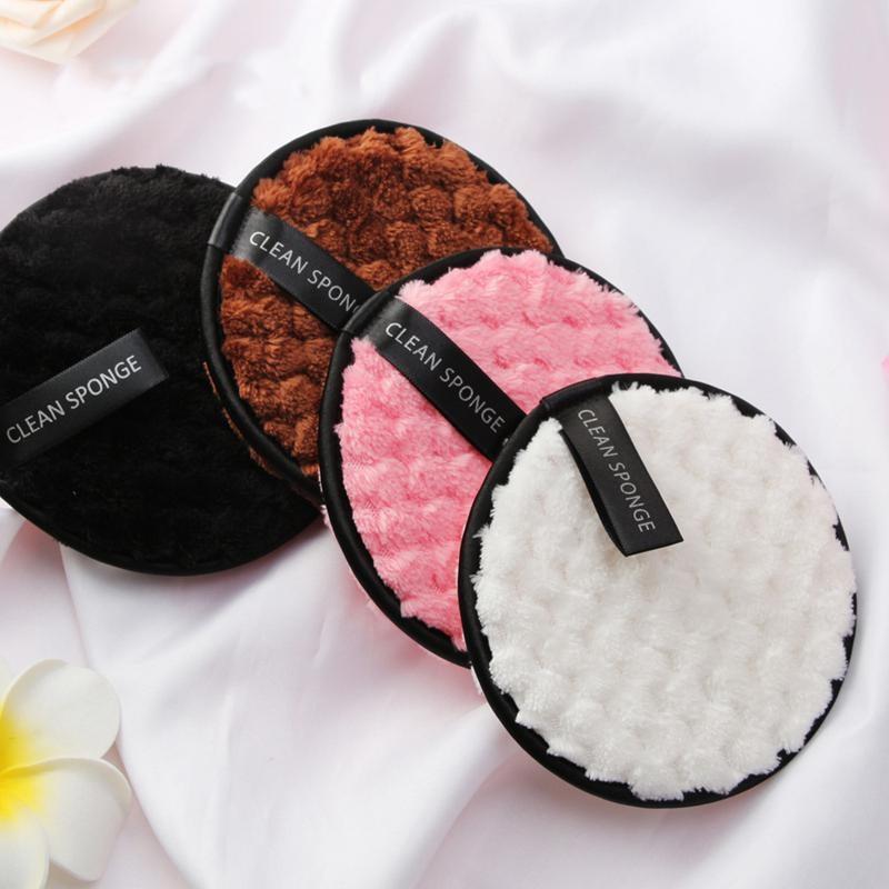 Салфетки из микрофибры для лица, 4 шт., спонж для снятия макияжа, очищающее полотенце для лица, многоразовые хлопковые двухслойные салфетки для дизайна ногтей