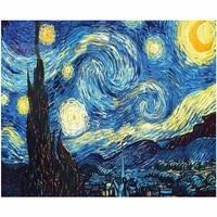 Starry night by Van Gogh     peinture diamant 5D  bricolage  broderie  point de croix  couture  mosaique  decoration de maison  NEW306