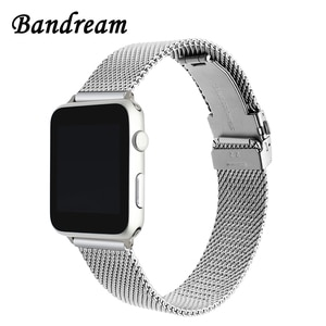 Newest Milanese Watchband for iWatch Apple Watch 38mm 40mm 42mm 44mm Series 1 2 3 4 5 Stainless Steel Band Wrist Strap Bracelet