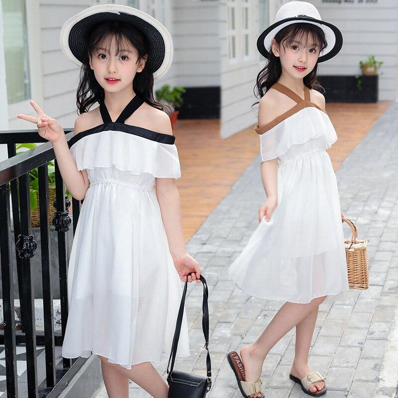 Summer Girls Dress 2019 Teenager Girl Party Dress Chiffon Princess Dresses For Kids Girl Children Clothing 12 Years 10 8 6