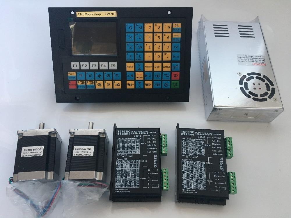 Kits de controladores CNC para torno CNC Control 2 ejes USB stepper servo motor rectificadora husillo roscado torno controlador