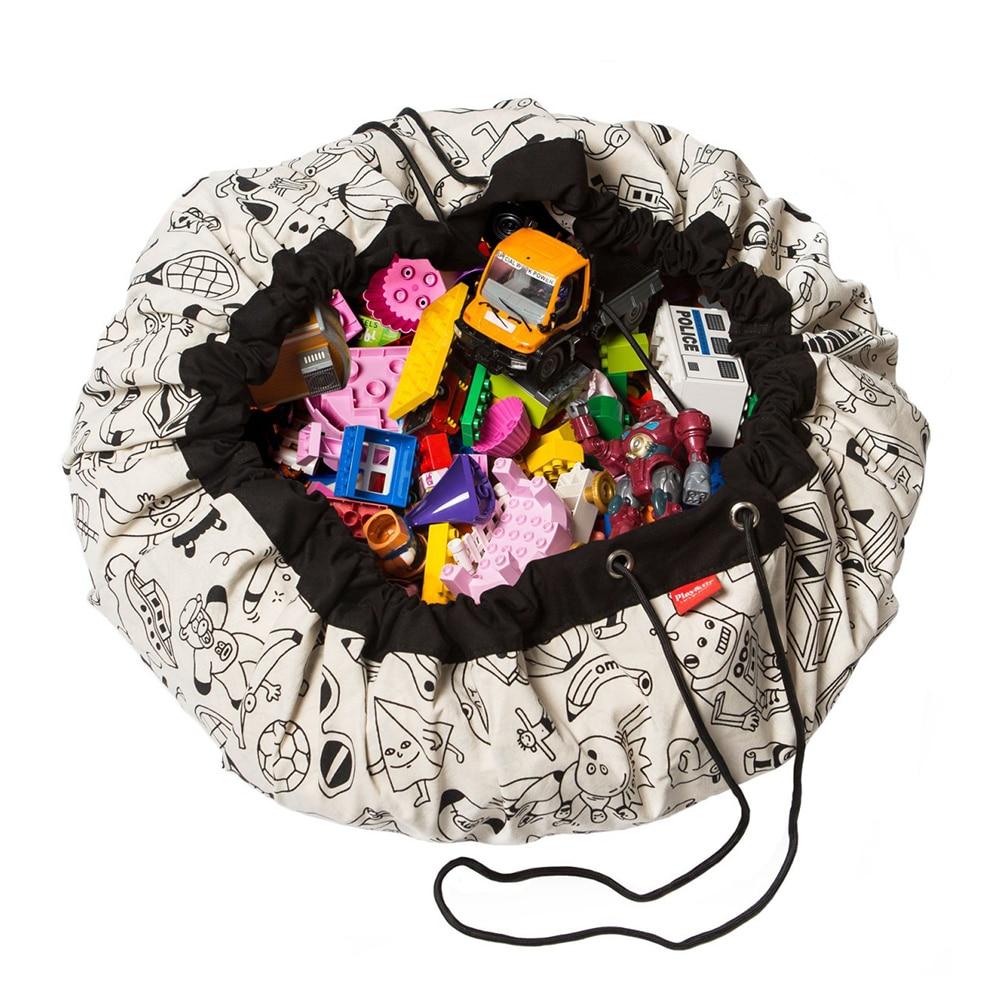 Nueva alfombrilla de Grafiti de manualidades inteligente para niños, juguetes Blanlet, bolsa de almacenamiento, Alfombra de juego portátil, alfombra grande redonda para gatear para niños