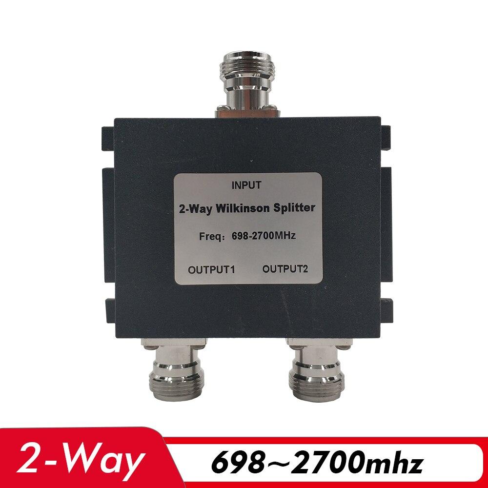 2-полосный разветвитель питания 698 ~ 2700MHz N-Женский разделитель питания, соединяющий 2G 3G 4G усилитель сигнала сотового телефона ретранслятор и антенный кабель
