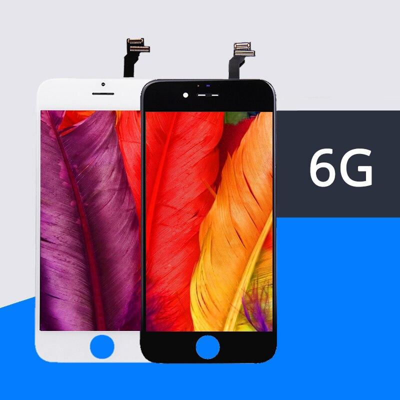 10 قطعة/الوحدة 100% أعلى AAA لا الميت بكسل ل فون 6 LCD 4.7 بوصة ecran شاشة عرض استبدال عدسة Pantalla 6G LCD شحن DHL