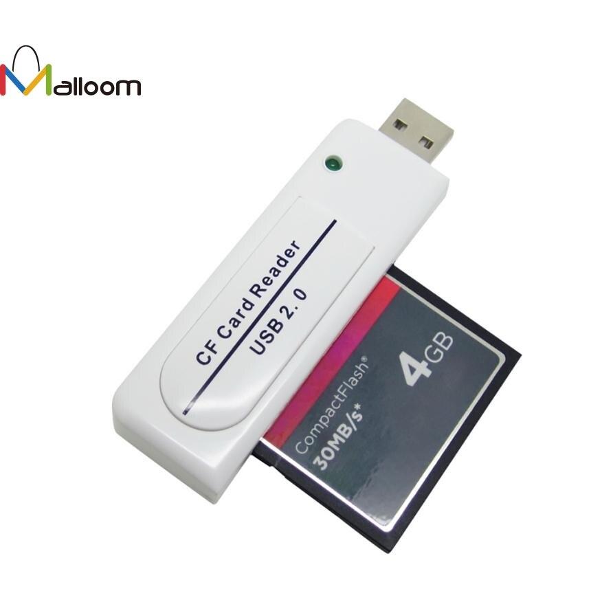 ¡Novedad de 2018! Malloom, accesorios para PC, lector de tarjetas USB 2,0 CF de alta velocidad, lector de tarjetas USB flash compacto para ordenador PC