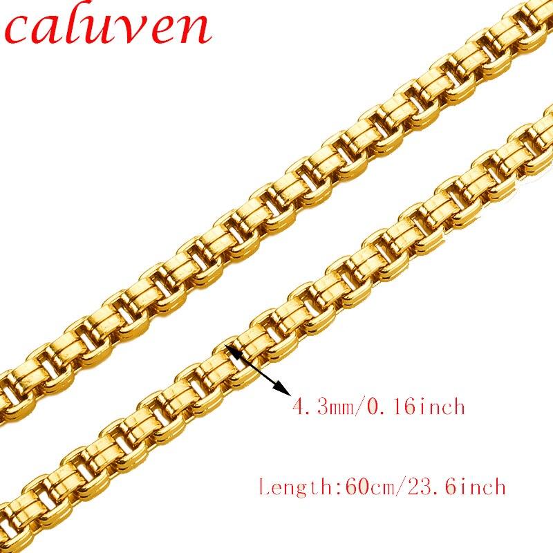 Медуза дизайн ювелирных изделий золотой цвет цепь для мужчин ювелирные изделия унисекс коробка звено цепи ожерелье оптовая продажа