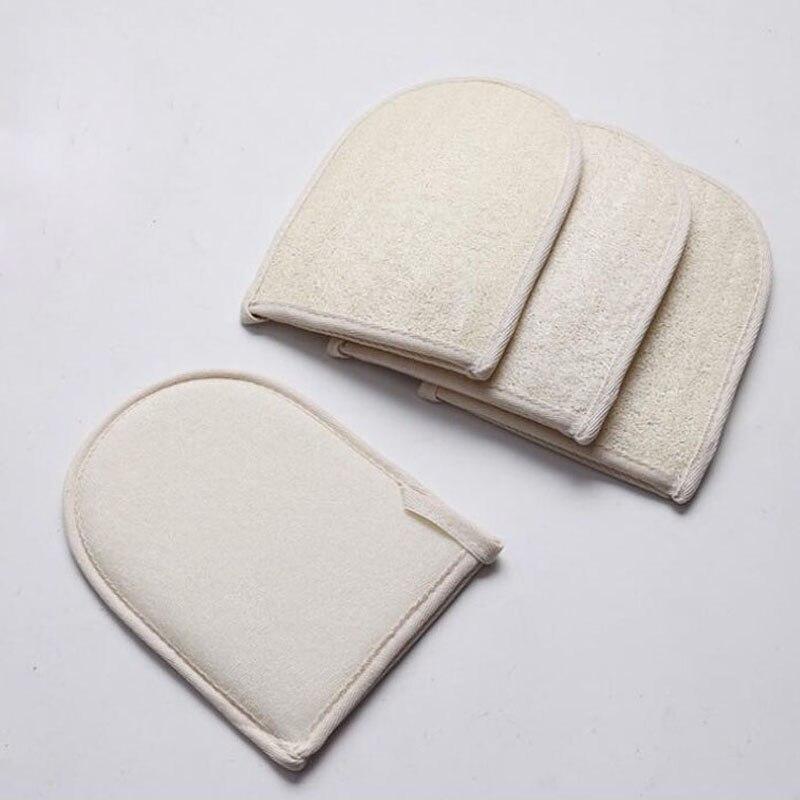 100pcs 20*15CM Natural Loofah Bath Gloves Practical Bathroom Product Back Scrubber Shower Body Exfoliator Scrubber ZA6077