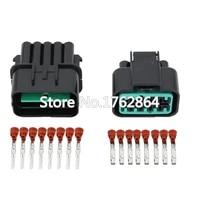 5sets 10 pin automotive connector headlamp plug black with terminal dj7101y 2 2 1121 10p car connector
