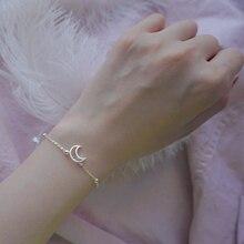 XIYANIKE-Bracelet en argent Sterling 925 lune ajourée, perles, zircone cubique, exquis, cadeau à la mode, bijoux pour dîner, mariage